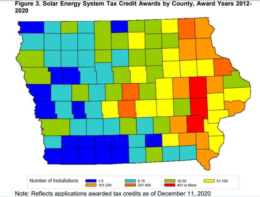 Solar growing in Iowa